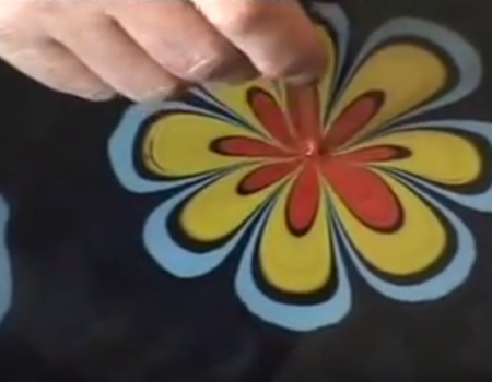Art of painting on water: Marbling