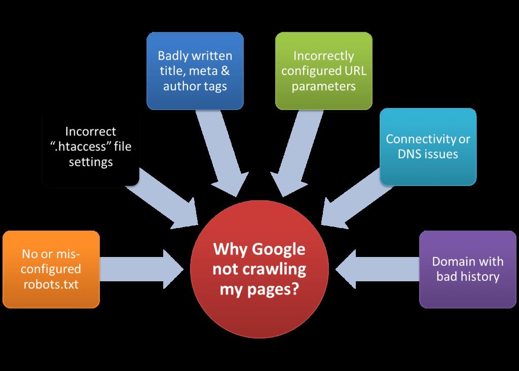 Reason why Google not crawling