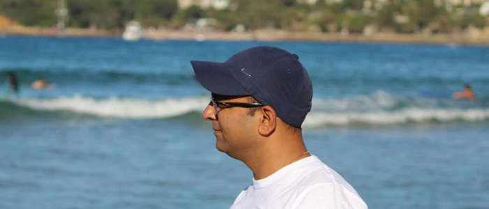 Sachin Dhir at Mainly beach