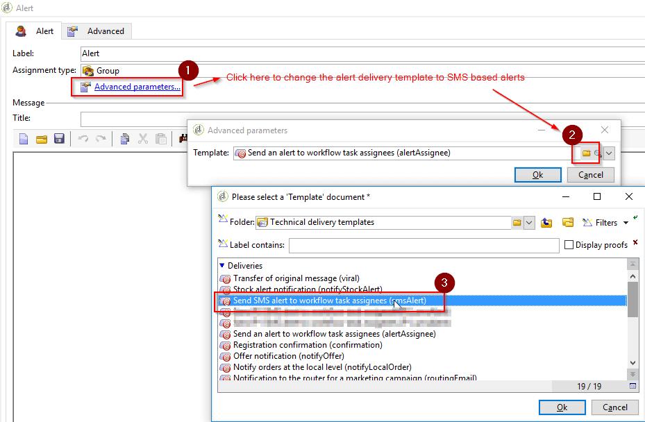Change Alert template